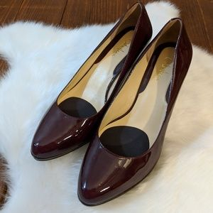 Cole Haan • Patent Maroon Heels [Shoes]